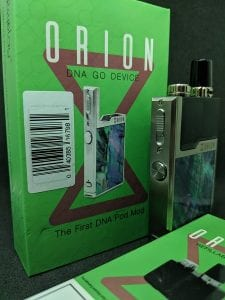 Orion device in front of box