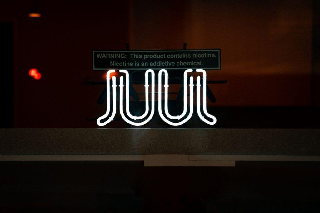 Neon Juul sign