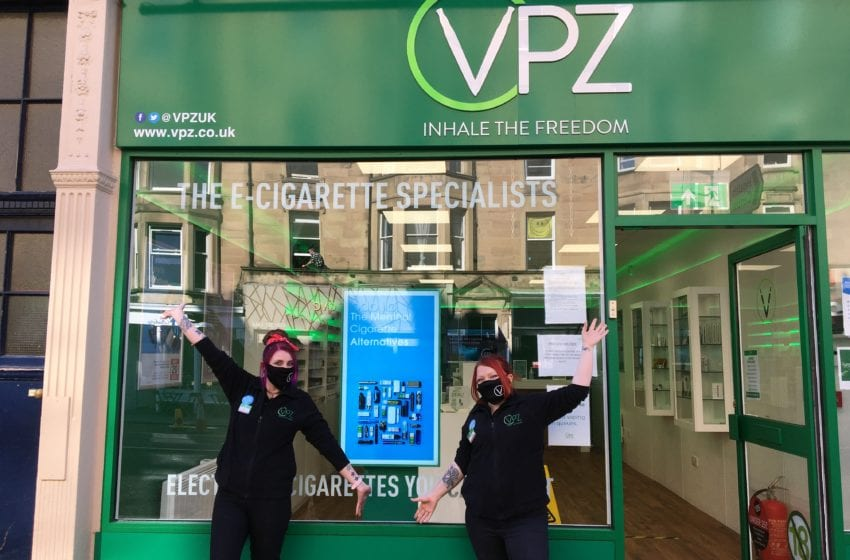 UK Vaping Retailer Opens First Store Since Lockdown