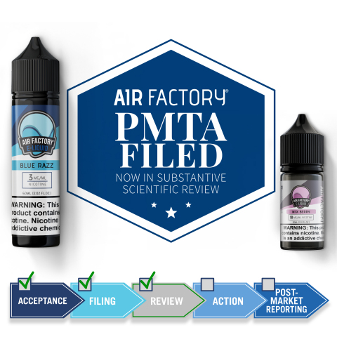 Air Factory, Charlie's Chalk Dust Get PMTA Filing Letters