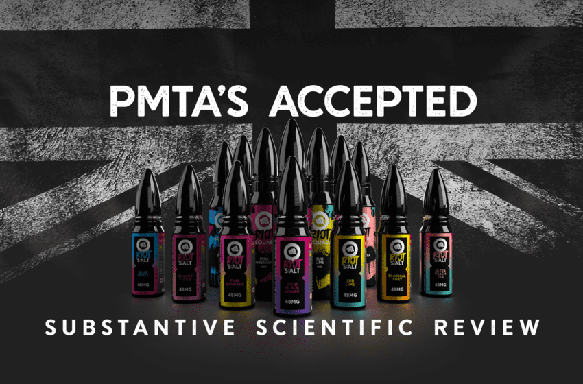 Riot Squad Receives PMTA Acceptance Letter from FDA