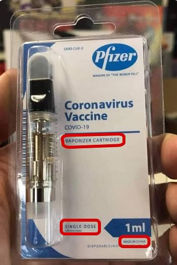 Internet Covid-19 'Vape' Vaccine Picture is Hoax