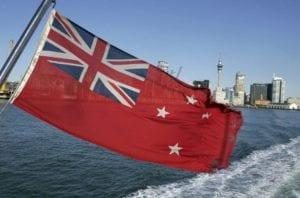 New Zealand flag on boat