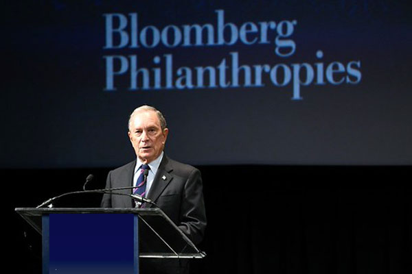 WHO reappoints Bloomberg as Global Ambassador