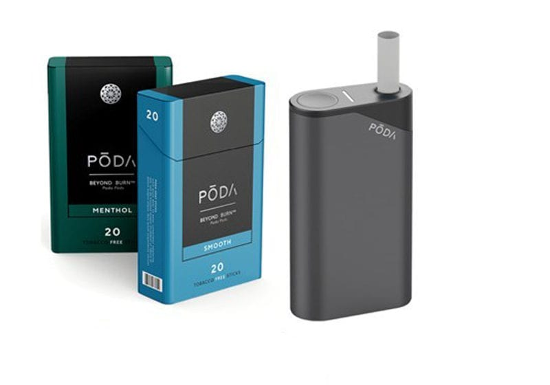 Poda Patents Closed-Ended Heated Tobacco Device